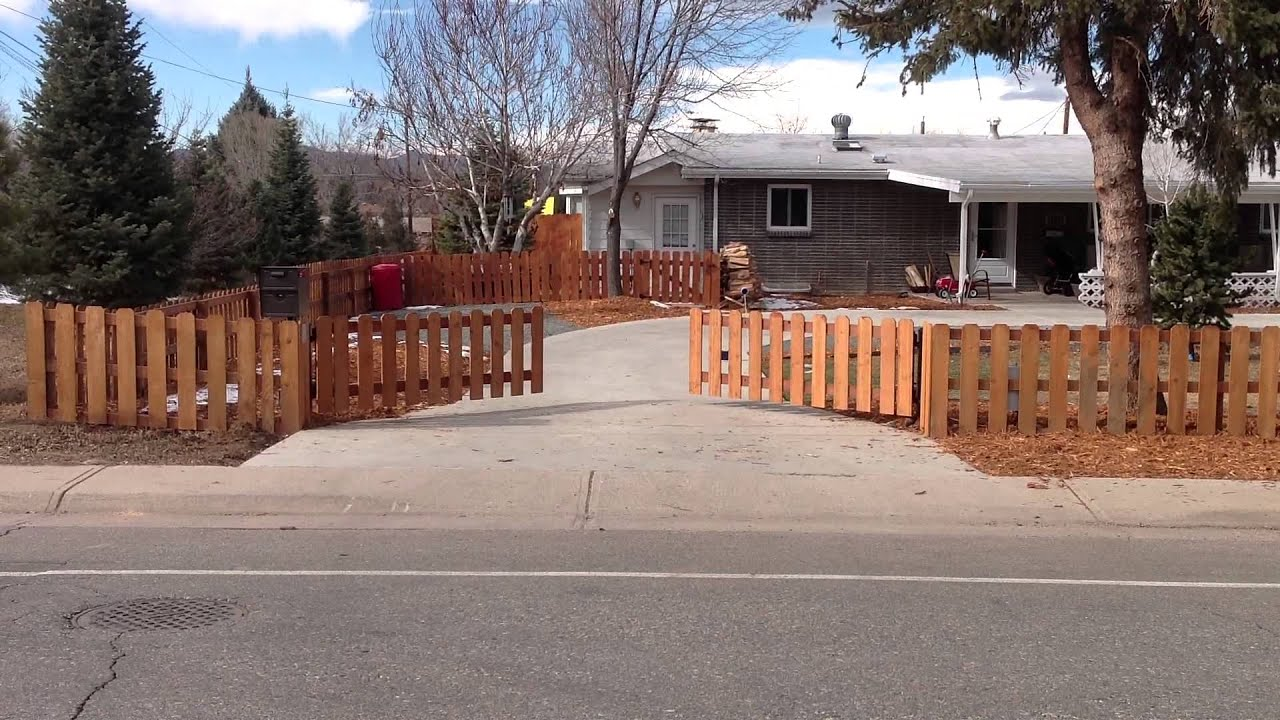 Denver automatic driveway gate system picket fence style youtube