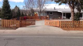 Denver Automatic Driveway Gate System: Picket Fence Style