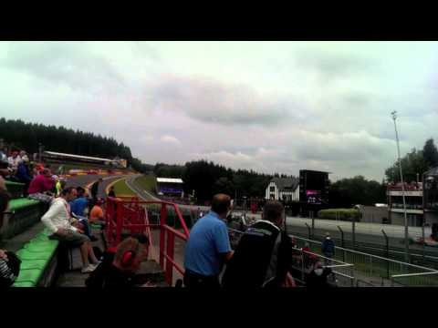 GP2 Series 2013 Spa-Francorchamps Race 1 Formation Lap (Silver 2 Grandstand)