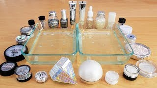 Diamonds vs Pearls - Mixing Makeup Eyeshadow Into Slime! Special Series 88 Satisfying Slim ...