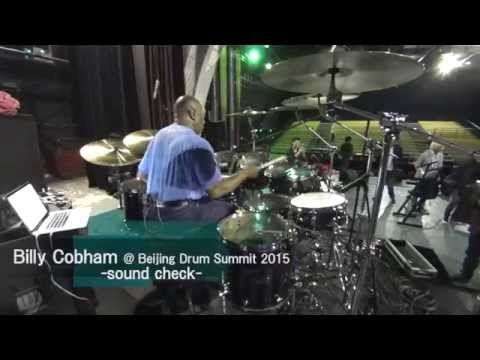 Billy Cobham sound check @ Beijing (北京) Drum Summit 2015.