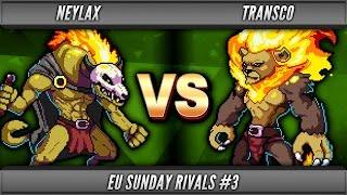 Rivals of Aether - Neylax (Forsburn) vs Transco (Zetterburn) - Grand Final 2 - EU SR