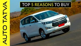 Toyota Innova Crysta | The Best MPV in India ?? | 5 Reasons to Buy | Hindi