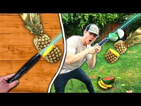 MOST POWERFUL LASER FRUIT NINJA *EXPLODING FRUIT*