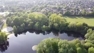 Abend am Swarte-Moor-See in Oldenburg, Niedersachsen