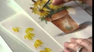 Black Eyed Susan using Watercolors by Susan Scheewe video by ArtistSupplySource.com