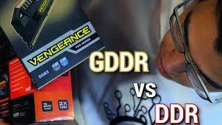 الفرق بين الرامات العادية و رامات كارت الشاشة - GDDR Vs DDR