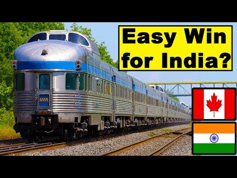Indian Railways vs Canada Railways Comparison (2018)