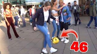 1€ pro FUSSBALL Hochhalten!! **Mädchen machte mich pleite** Youtuber Edition