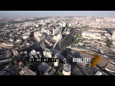 HD Aerial footage of israel: Jerusalem 30i