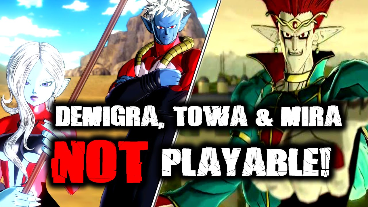 Dragon Ball Xenoverse: Demigra, Towa and Mira NOT Playable! | Not ...
