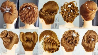 10 Beautyful Hairstyle With Clutcher Hairstyles - Easy Hairstyle With Hair Tools | French Hairstyle