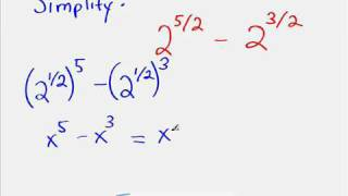 Fractional Exponents Simplification Example