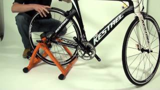 how to assemble and setup the conquer cycling trainer