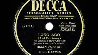 1944 HITS ARCHIVE: Long Ago (And Far Away) - Dick Haymes & Helen Forrest