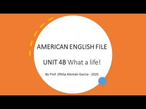 american-english-file-1---unit-4b---first-of-four-parts-vocabulary-and-pronunciation