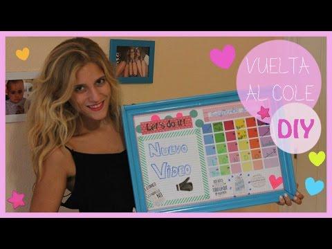 Diy organizador ideas decoraci n school supplies - Tablero escritorio ...