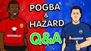 ❓POGBA & HAZARD ... Q&A❓ (Parody Chelsea vs Man Utd)