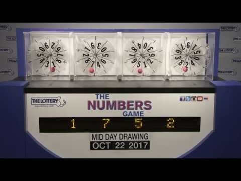 Midday Numbers Game Drawing: Sunday, October 22, 2017
