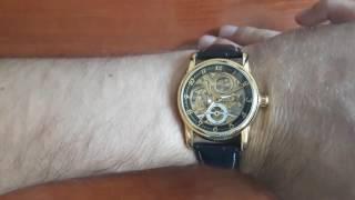 Обзор и настройка. Часы скелетоны  Forsining Lux. Механика с автоподзаводом