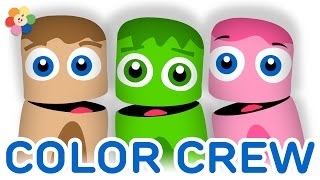 Color Collection 5: Pink, Green & Brown | Colors for Children to Learn | Color Crew | BabyFirst