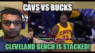 cleveland bench is stacked cleveland cavaliers vs milwaukee bucks highlights 2 27 2017 reaction