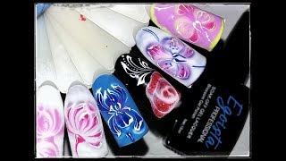 🌺 ЦВЕТЫ в технике ПО МОКРОМУ 🌺 EGOISTA professional 🌺 Дизайн ногтей гель лаком 🌺
