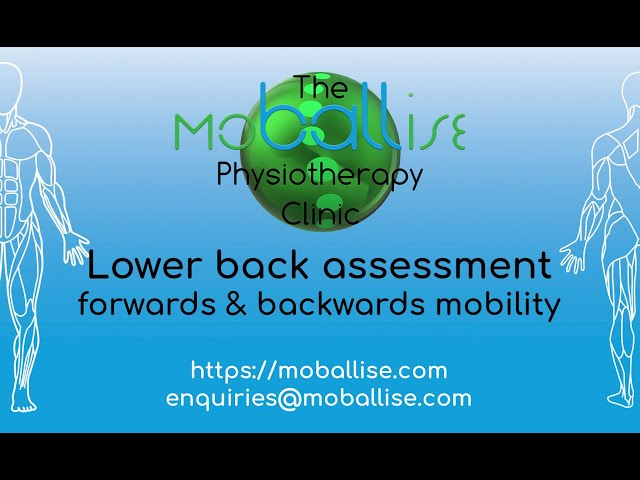 Lower back assessment - forwards & backwards mobility