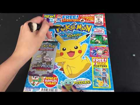ASMR Pokemon Magazine (Whispered Page Turning)