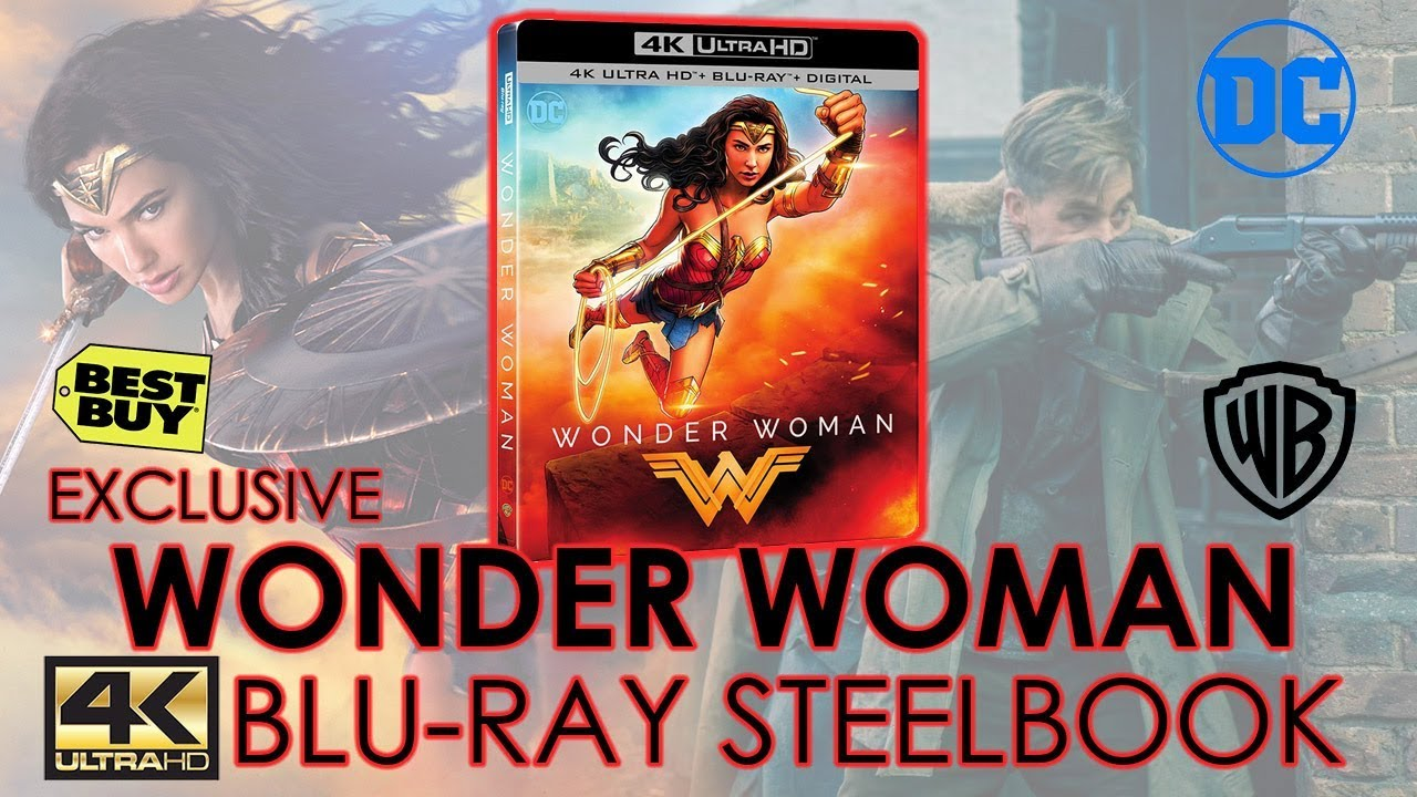Wonder Woman 2017 4k Ultra Hd Blu Ray Steelbook Unboxing Best Buy Exclusive Gal Gadot