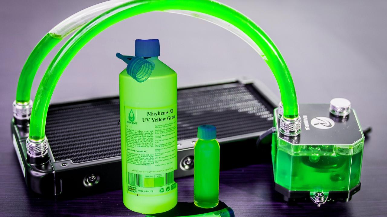 HOW TO REFILL/replace Triton AIO Liquid, Mayhems X1 UV Green