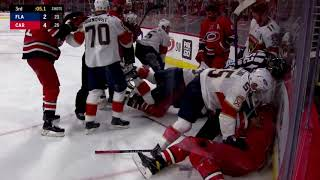 Carolina Hurricanes Vs Florida Panthers Scrum With 5 Seconds Left
