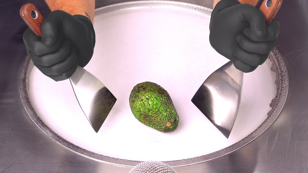 Avocado - Ice Cream Rolls | Street Food ASMR