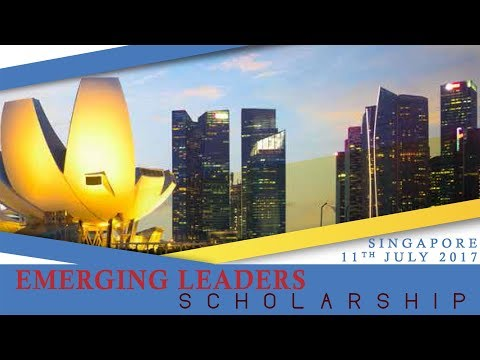 "Postcards Singapore: ""Emerging leaders. Scholarship"""