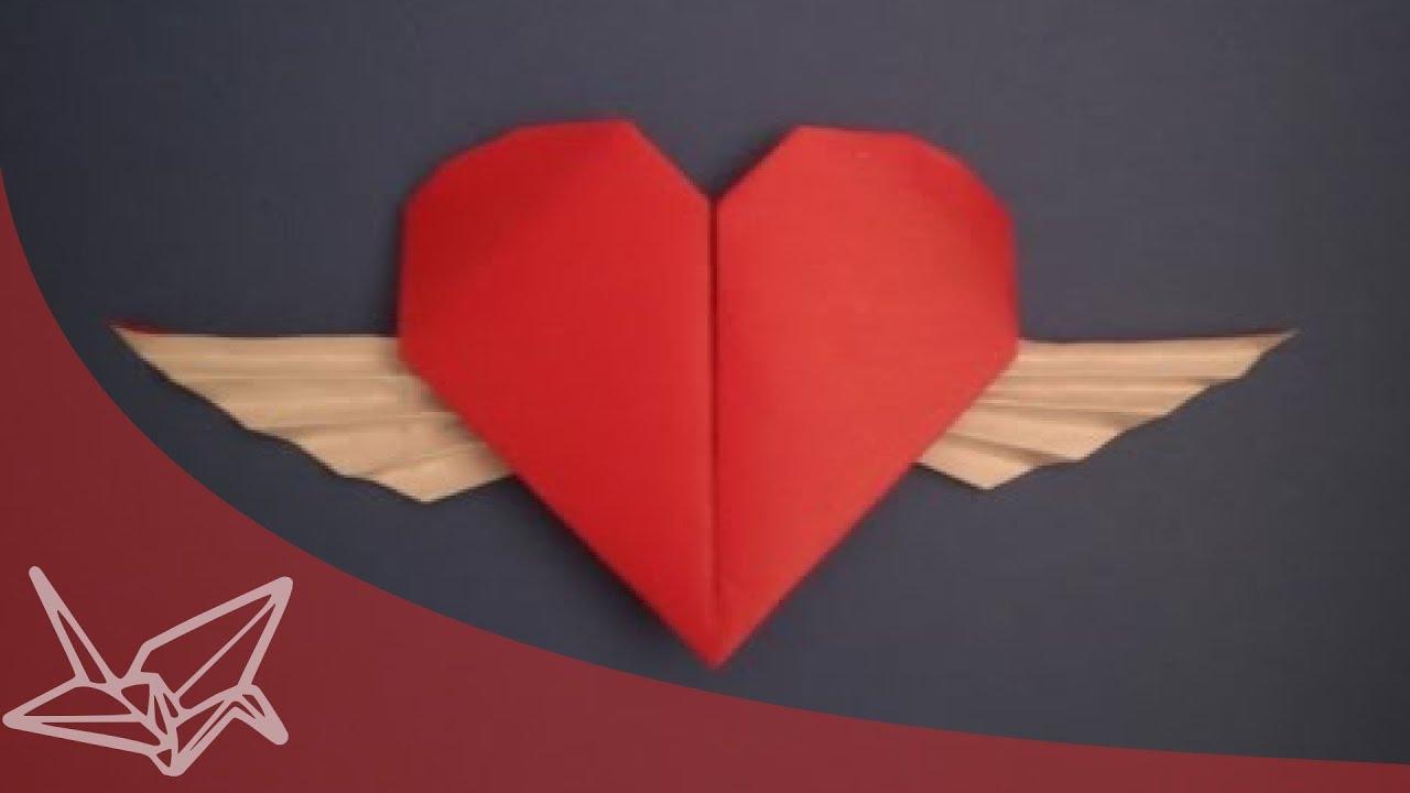 Winged Origami heart | Doovi - photo#41