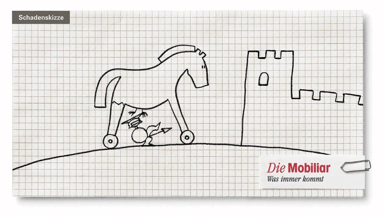 animierte schadenskizze der mobiliar troja youtube