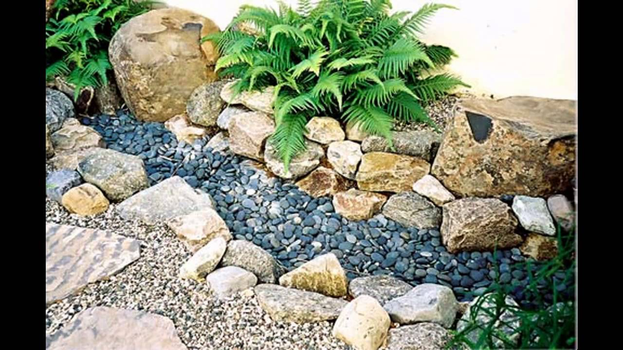 Small rock garden ideas - YouTube