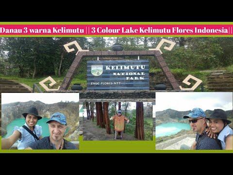 #7 Travel Video 2018    visit Kelimutu Lake / Danau 3 warna, Flores- Indonesia   