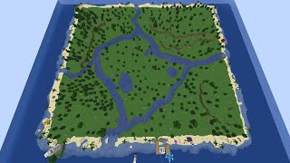 I gave 100 Minecraft Players a deserted island to build anything