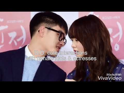 EXO X GIRLS: Kyungsoo Cute Interactions With Female Idols & Actresses