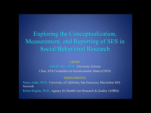 Exploring the conceptualization, measurement & reporting of SES in social/behavioral research