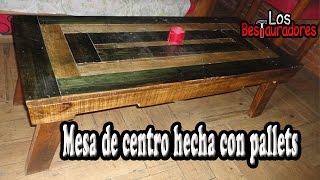 Mesa de centro hecha con Pallets/Tarimas (Reto con walter)