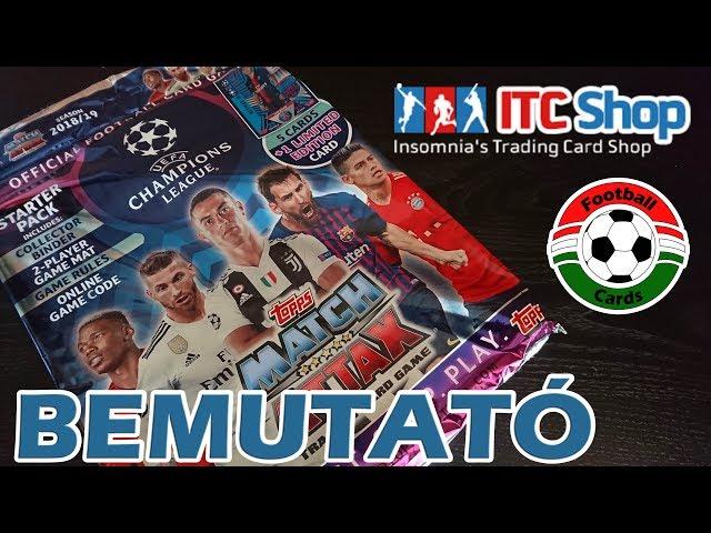 Topps Champions League 18/19 Match Attax Starter Pack | Bemutató