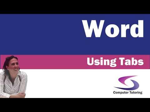 Using Tabs in Microsoft Word 2016 - Computer Tutoring