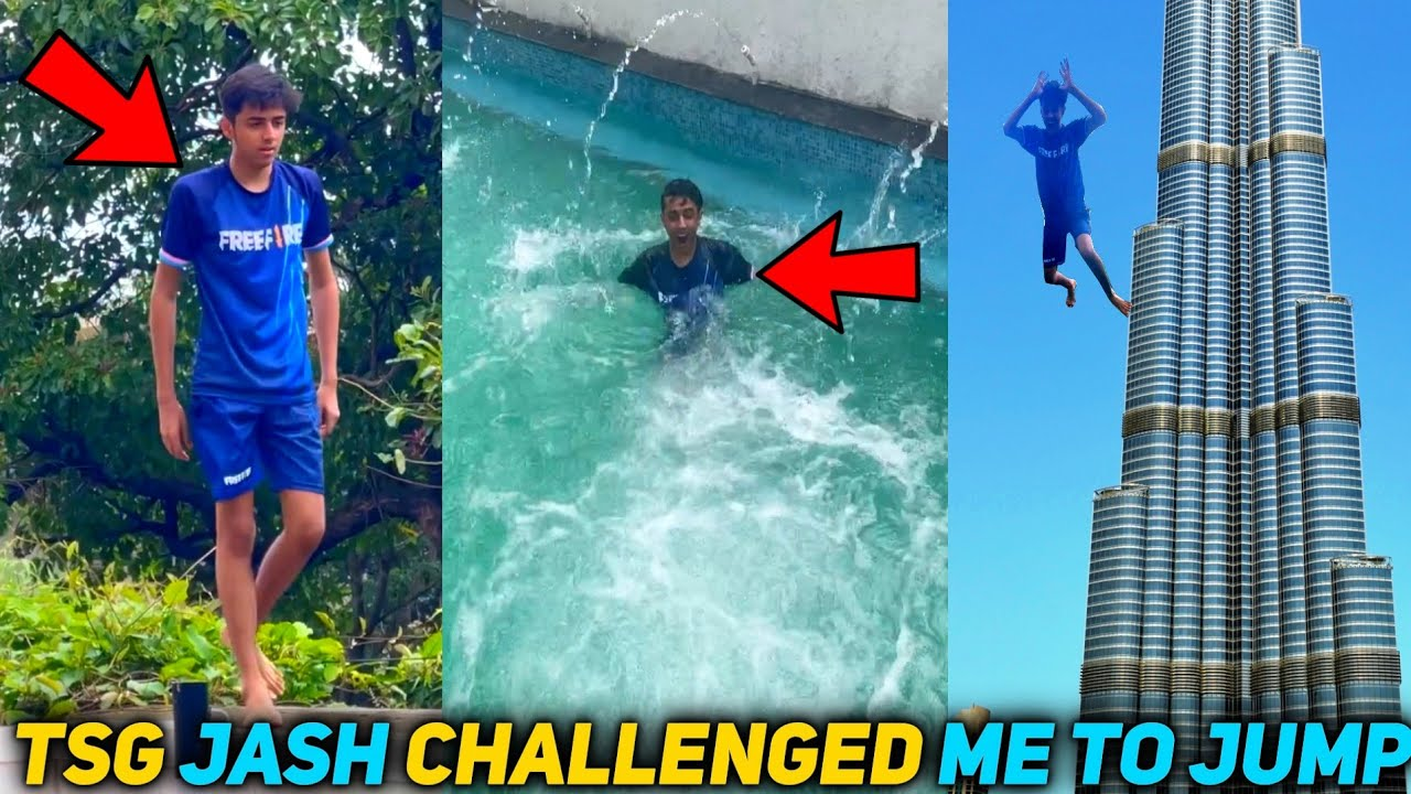 TSG JASH  Challenge Me To Jump From In The Pool    Deadliest Jump Ever😱 #shorts