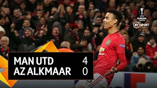 Man Utd vs AZ Alkmaar (4-0) | UEFA Europa League Highlights