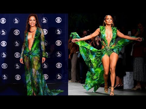 Mimi Brown - Jennifer Lopez The Versace Dress Then & Now