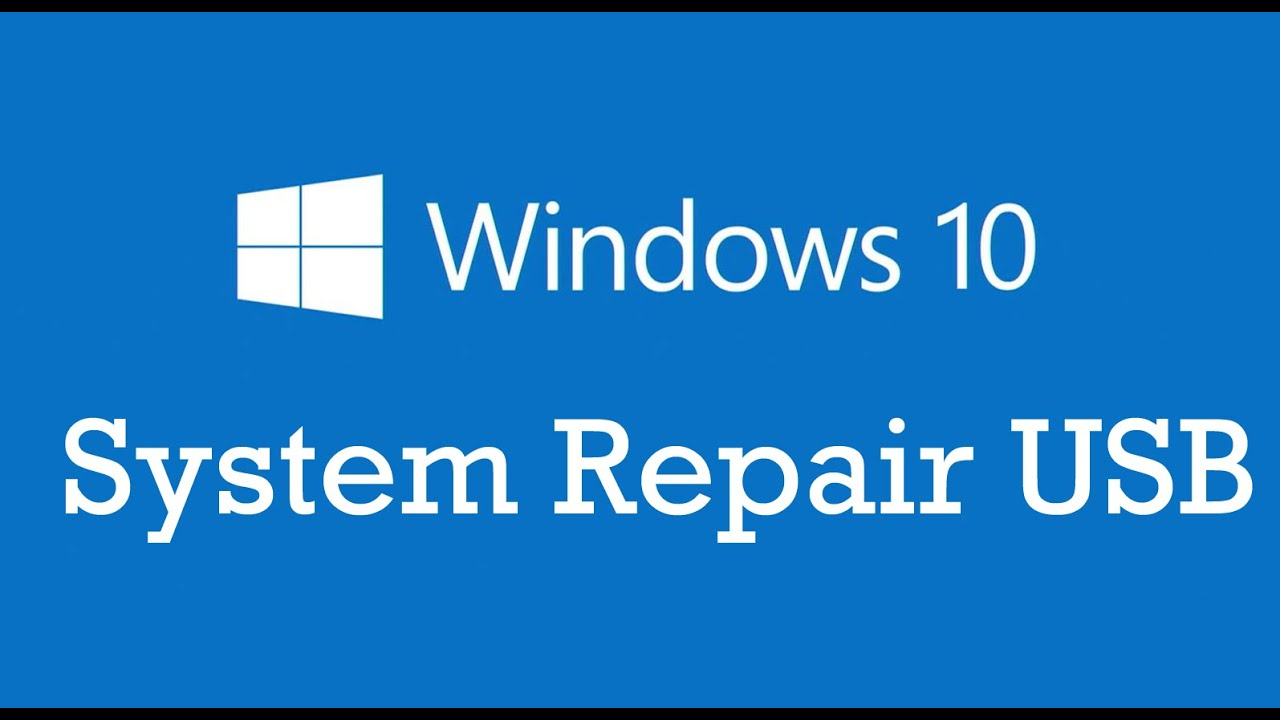 how to create usb system repair disc