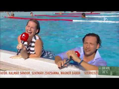 Ruhástul a vízbe - Mádai Vivien és Istenes László bemutatta az ˝újpesti hátast˝ - tv2.hu/mokka