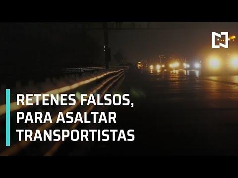 Delincuentes usan retenes falsos para asaltar transportistas en Puebla- En Punto con Denise Maerker